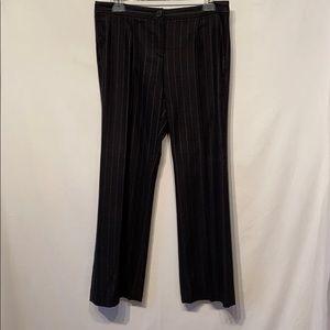 Theory Gray Virgin Wool Crop Pinstriped Pants SZ 8